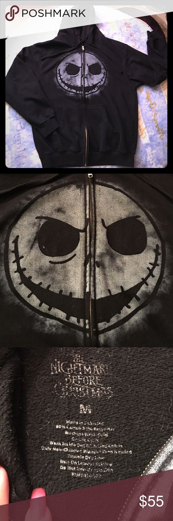 Spotted while shopping on Poshmark: The Nightmare Before Christmas Black Hoodie Sz M! #poshmark #fashion #shopping #style #Hot Topic #Jackets & Blazers