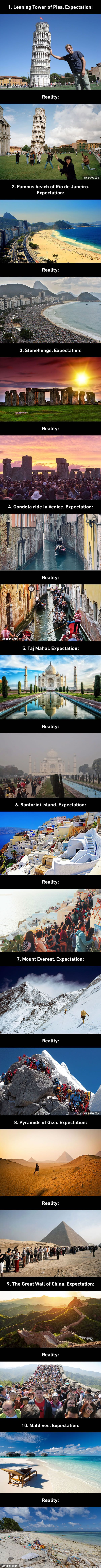Top 10 Travel Expectations Vs Reality Which May Make You Rethink Your Vacation - 9GAG