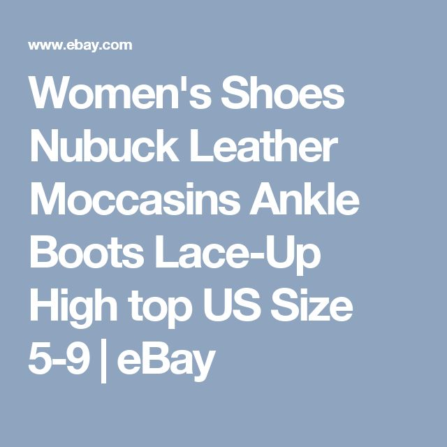 Women's Shoes Nubuck Leather Moccasins Ankle Boots Lace-Up High top US Size 5-9 | eBay