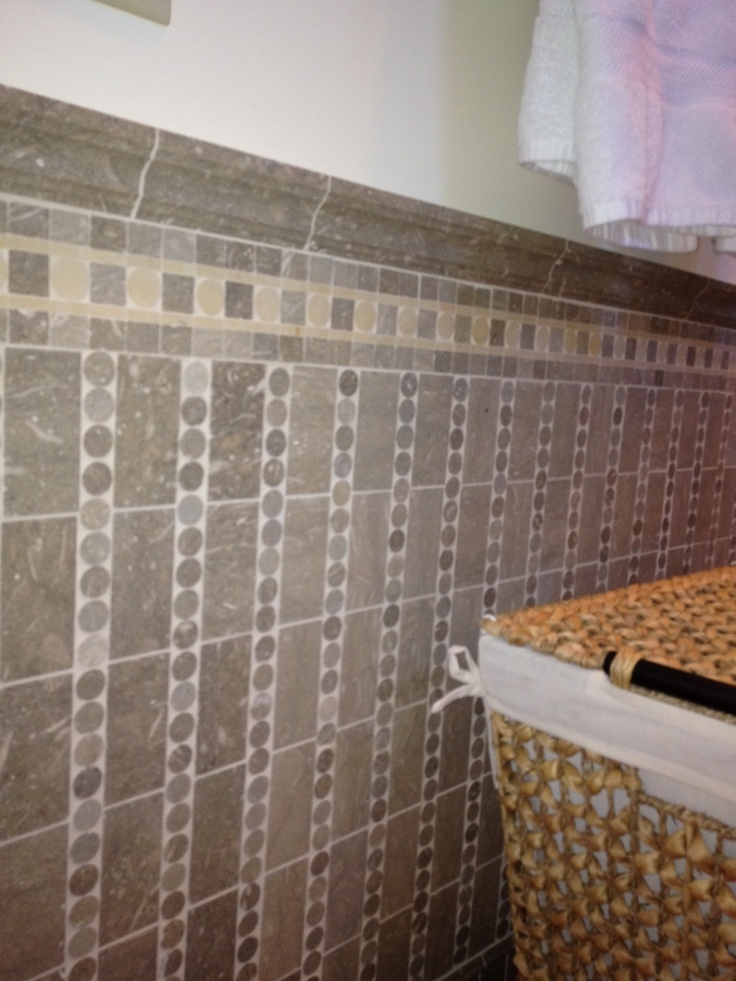 17 Best Images About Tile Wainscot On Pinterest Glass