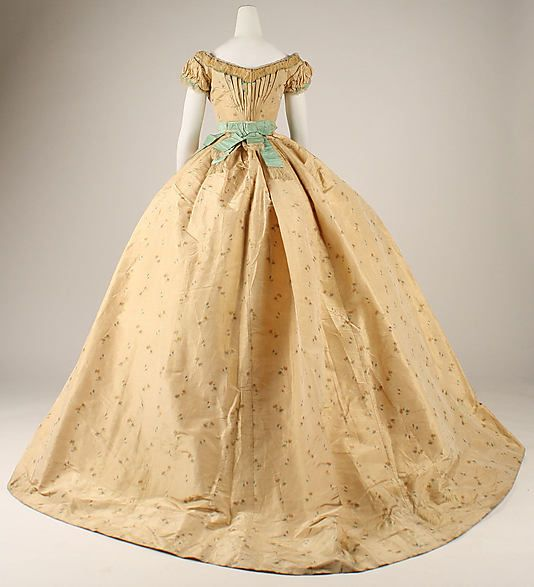 Unknown Maker. Silk and Cotton Ball Gown. 1867. French.