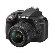 KIT CAMARA DIGITAL REFLEX NIKON D3300 NEGRO 24.2MP AFS DX18-55G NO VR + ESTUCHE + LIBRO + TRIPODE