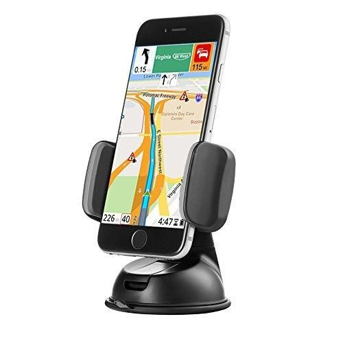 Zilu Car Phone Mount Cell Phone Holder for Dashboard and Windshield Car Accessories for iPhone Andorid and More-Retail Packaging