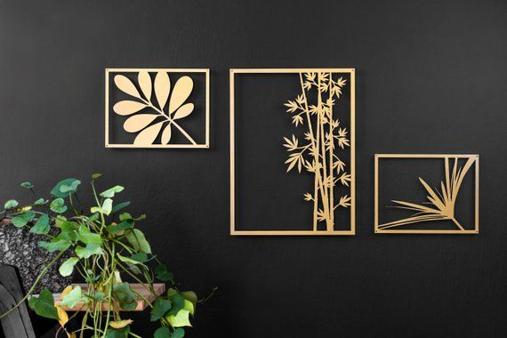 Gold Leaf Art Bloomi Gold Wall Art Modern Wall Art Wall Art Pictures