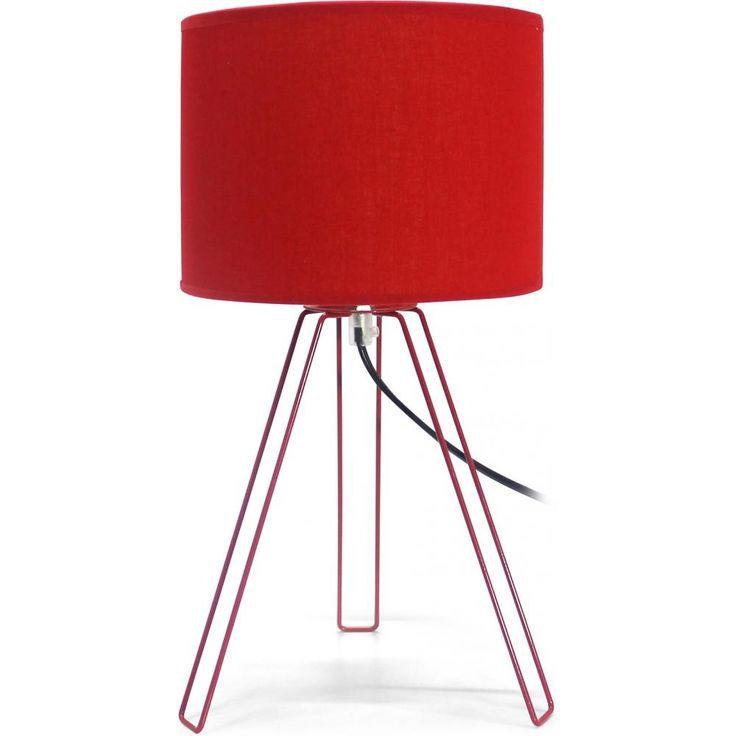 Cette lampe est un savant mélange de tissu rouge et d'acier, ce qui lui donne une allure moderne et sophistiquée.  La lumière diffusée par cette lampe est douce et chaleureuse. Très design, cette lampe saura s'adapter à n'importe quel type d'intérieur.   Hauteur : 36 cm Poids : 0,4 kg Diamètre : 20 cm Abbat jour Tissu Structure  Acier inoxydable