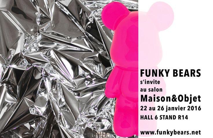 Funky bears s 39 expose au salon maison et objet paris en - Maison et objet janvier ...