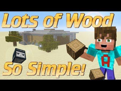 How to make a Wood Farm in Minecraft | Simple Minecraft Wood Farm
