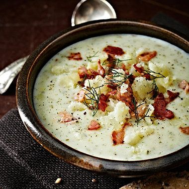 Cheddar and Potato Soup with Bacon recipe - From Lakeland