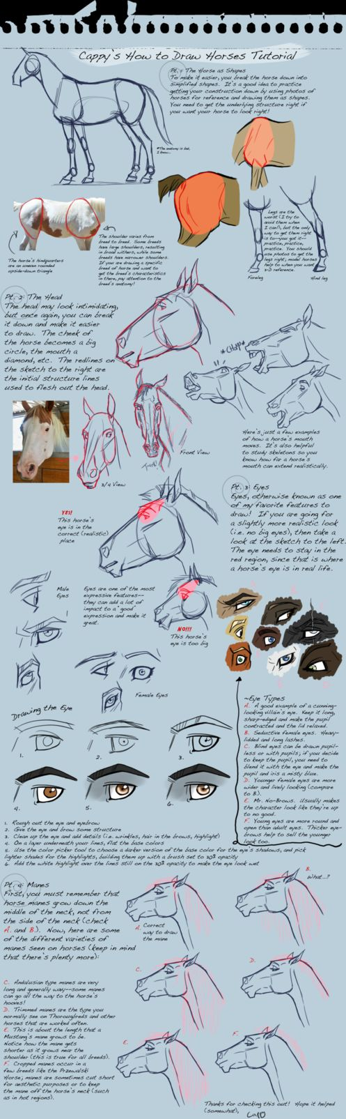 Just a quick tutorial I threw together while chatting with Starhorse and Wadhifitook. They cheered me up. I draw these little guys incessently on my notebook margins. Horses leap over biology notes...