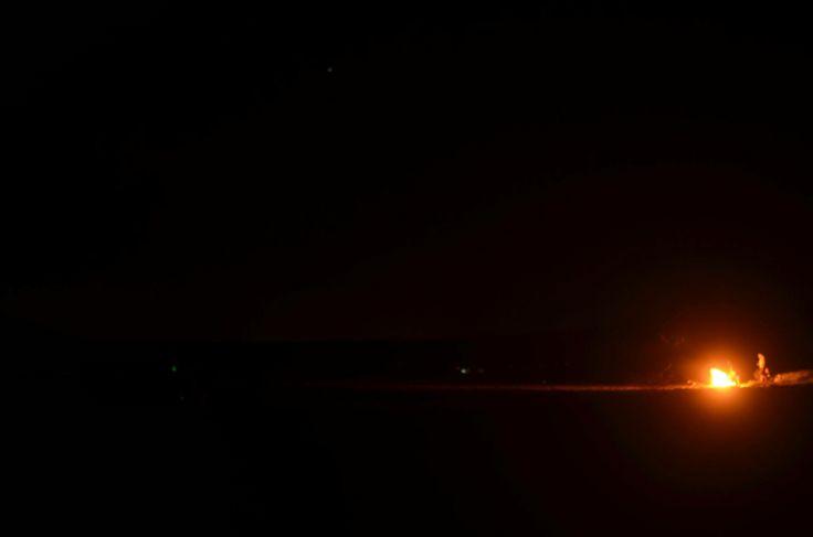Campfire under the stars