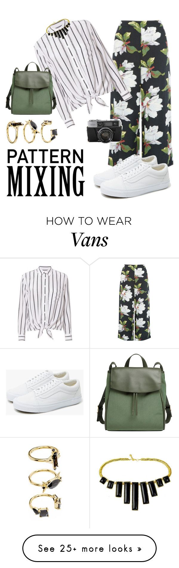 """""""mix it up """" by podangbethari on Polyvore featuring Warehouse, Equipment, Vans, Noir Jewelry and Skagen"""