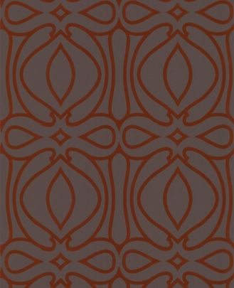 Baroque: Chocolate & Orange Wallpaper graham brown
