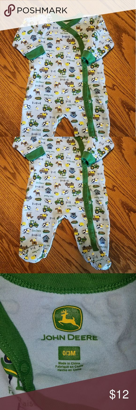 BABY JOHN DEERE PAJAMAS❤🌻 Your little one will love to play in his John Deere pajamas!  Used, clean and smoke free home!  Don't forgot about my 🌻❤BUNDLE DISCOUNTS!❤🌻  Thanks for shopping! John Deere Pajamas