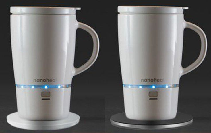 The mug is designed to work wirelessly and hold a beverage to its original temperature for at least 45 minutes.