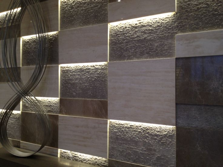 Love the use of texture & light on this stone wall at 'soul' high rise surfers paradise.