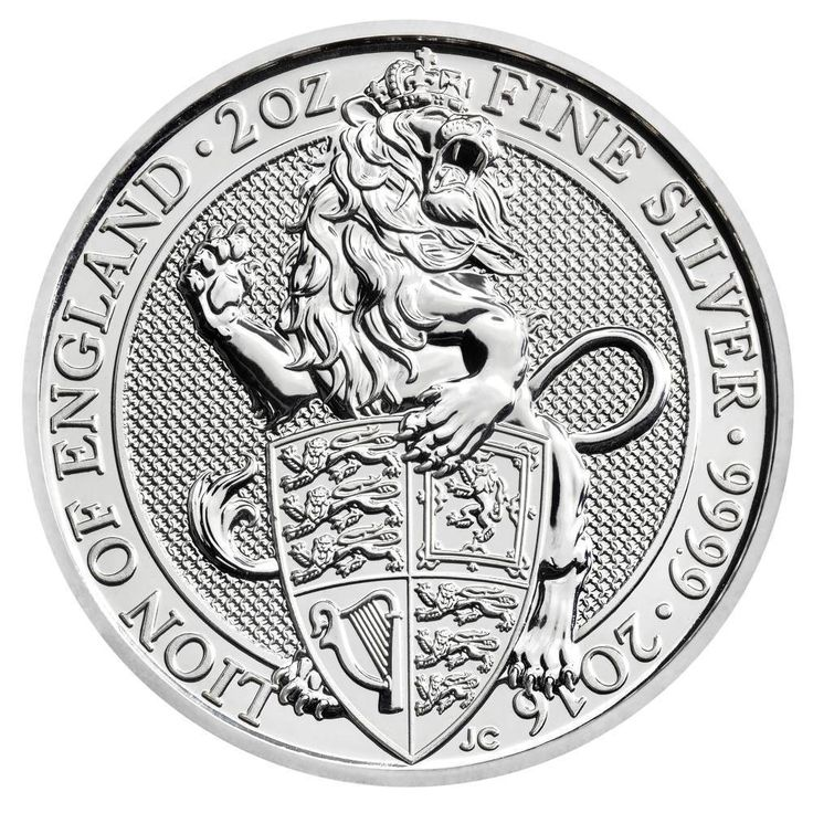 The Queen s Beasts 2016 – The Lion - 2 oz Silver Bullion Coin