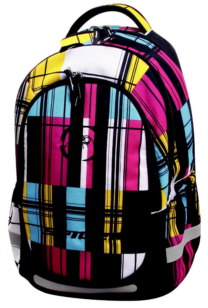 SMASH Cool Medium Orthopaedic Backpack Code: 781LL60 (30 x 17 x 40cm) Price: R769  Super Light, 3 Divisions, Adjustable Padded Shoulder Straps, Padded Carry Handle, Front Pocket Division, No 10 Zip Main, Compartment, Fancy Zip Puller, Detailed Embroidery, Printed Polyester, Side Bottle Pockets, Steel Rod Support, Eva Base.  Endorsed by @chiropracticSA.