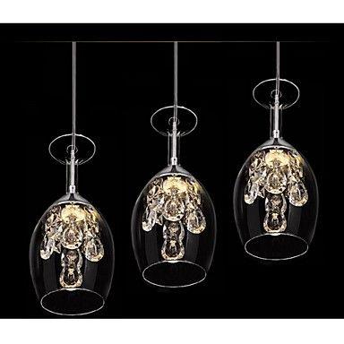 Crystal LED Mini Pendant Three Light – USD $ 113.99