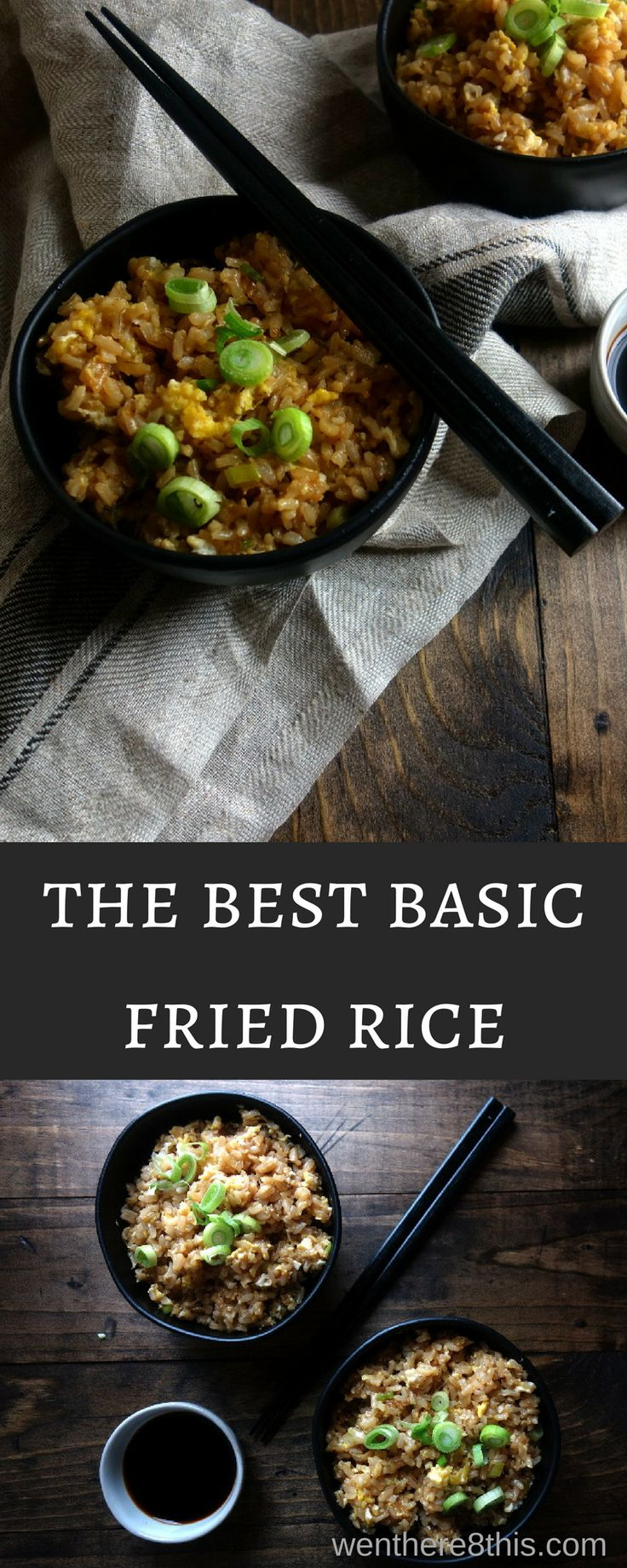This basic fried rice with Chinese sausage is super easy to make and a perfect staple for all those homemade takeout Chinese dishes!  easy fried rice recipe | the best fried rice recipe | 10 minute fried rice | chinese fried rice | fried rice with egg | chinese sausage | better than takeout fried rice | best ever fried rice | easy rice recipes | Chinese takeout recipes | easy chinese fried rice via @Went Here 8 This