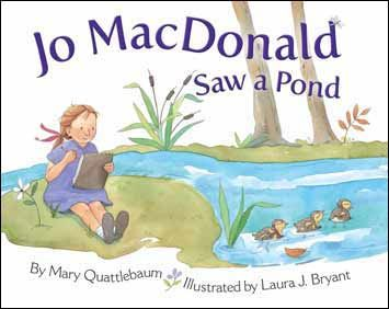 In this new take on a familiar classic, Jo MacDonald explores a local pond, where she meets fish, frogs, and ducks along with a red-winged blackbird, raccoons, deer -- and one very lucky dragonfly.