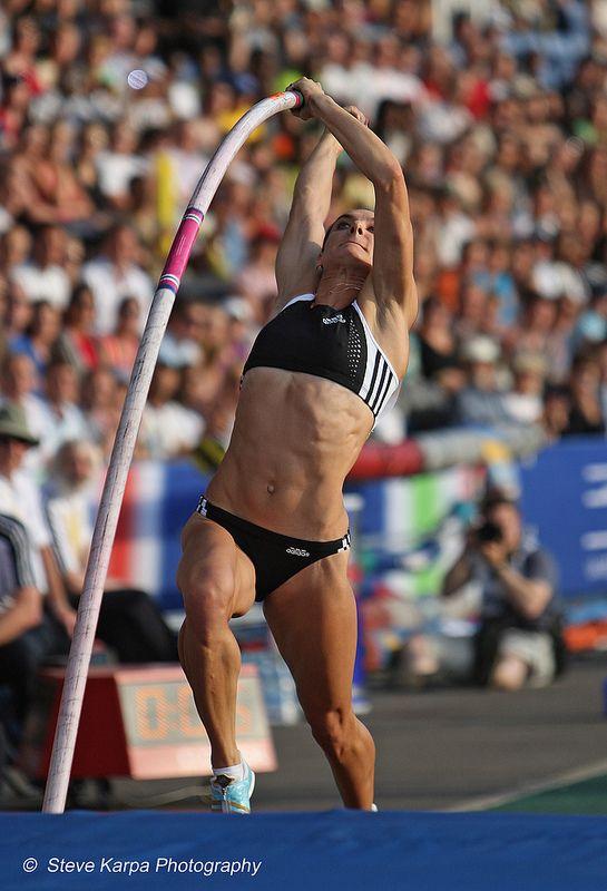 Yelena Isinbayeva, super sportswoman, photographed 2008