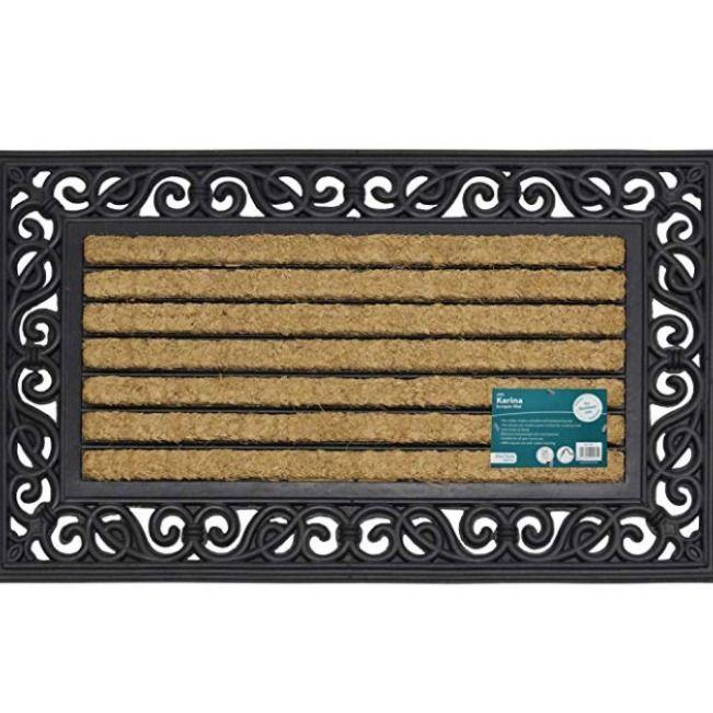 Jvl Karina Heavy Duty Rubber Coir Door Mat Fabric Jvl Karina Heavyduty Rubber Doormat Fabric Door Mat Carpet Shops Home Accessories