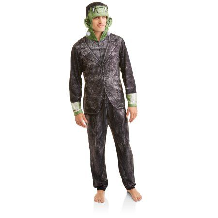 Frankenstein Men's Onesie Union Suit, Size: 2XL, Black