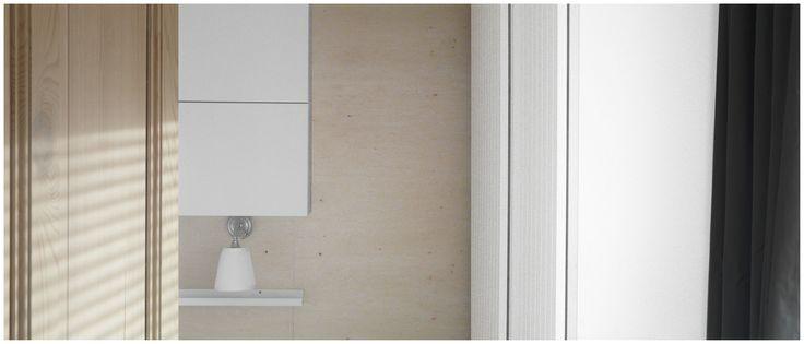 www.kwadratowymetr.pl Plywood wall.