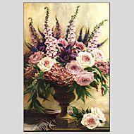 Handgeschilderde+Bloemenmotief/BotanischModern+/+Europese+Stijl+Eén+paneel+Canvas+Hang-geschilderd+olieverfschilderij+For+Huisdecoratie+–+EUR+€+120.20