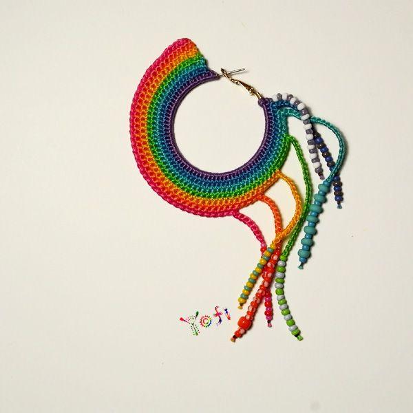 crochet earring by Yofi