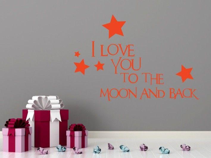 Love U 2 The Moon | stuckon.com.au