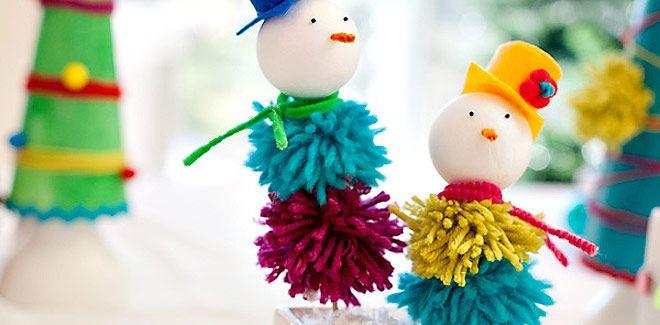 Muñecos de navidad. Manualidades navideñas para hacer con niños - Manualidades para Navidad - Manualidades para niños - Charhadas.com