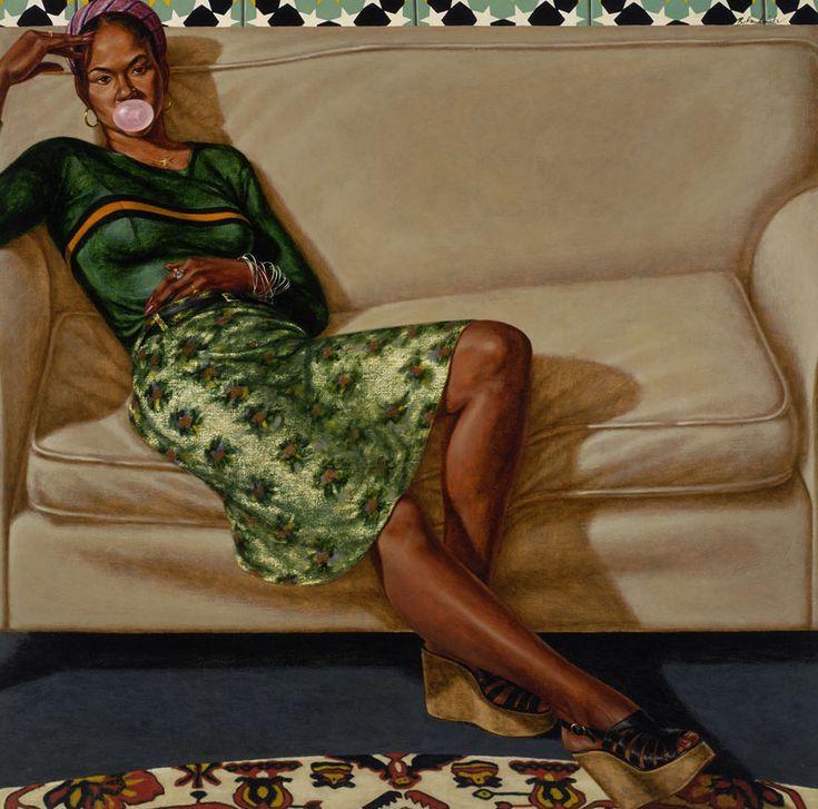 Sweet Thang (Lynn Jenkins) Oil on linen canvas ~ Barkley Hendricks