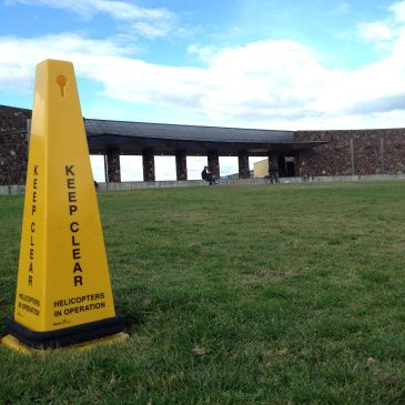 Yering Station - Yarra Valley.  Keep clear Helicopters in operation.