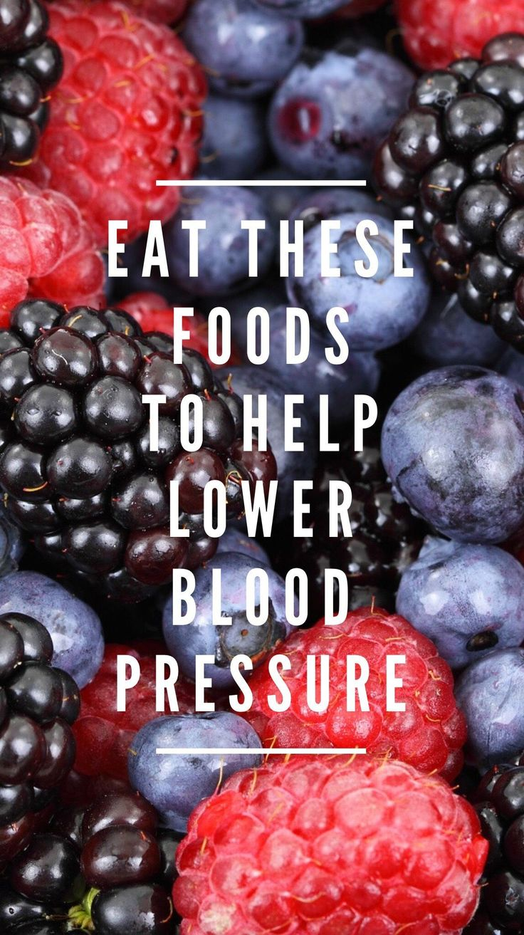 Foods that help to lower blood pressure