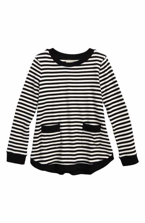 07710873b212 Tucker + Tate Heart Elbow Patch Stripe Tunic Top (Toddler Girls ...