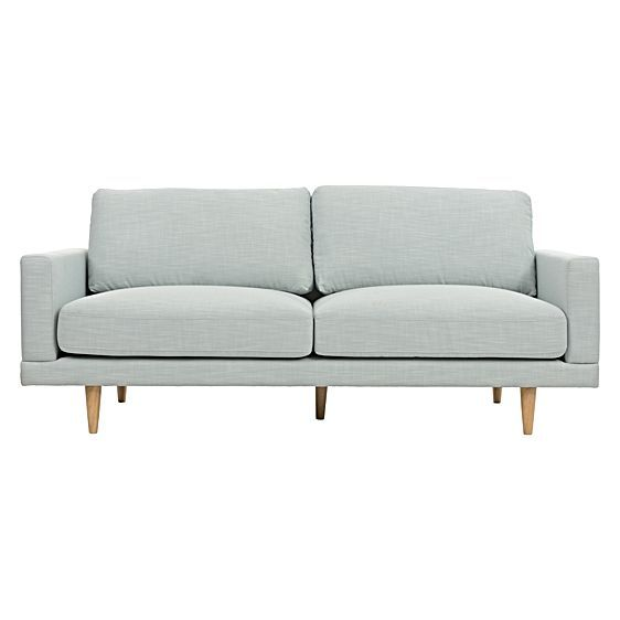 Grace your entertainment area with the gorgeous subtle pastel pop of the Chloe Duck Egg 2.5 Seater Sofa from Zanui.