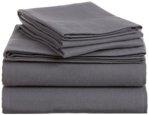 Pinzon Heavyweight Cotton Flannel Sheet Set - King, Graphite Pinzon by Amazon.com http://www.amazon.com/dp/B007M6G5WC/ref=cm_sw_r_pi_dp_YgiTub0AWHFNP