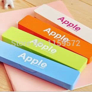Drop shipping Korea style candy colour pencil box for school boys and girls, plastic material, 18*4.6*2.1cm, Free shipping