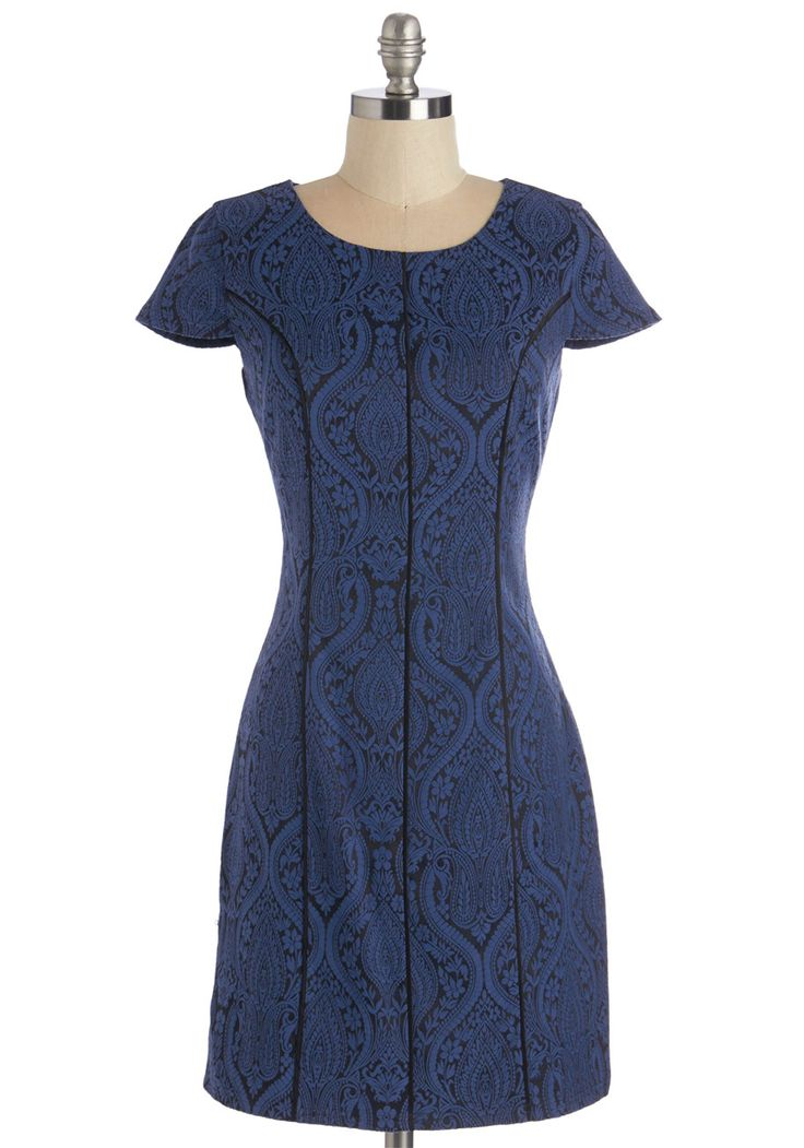 Enthuse Me, Miss Dress. Inspiring excitement and initiative with your rousing speech, you simultaneously awe the crowd with your admirable style in this chic dress. #blue #modcloth