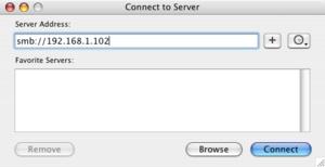 How to mount a Windows shared folder on a Mac.