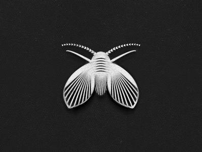 Moth logo fly moth