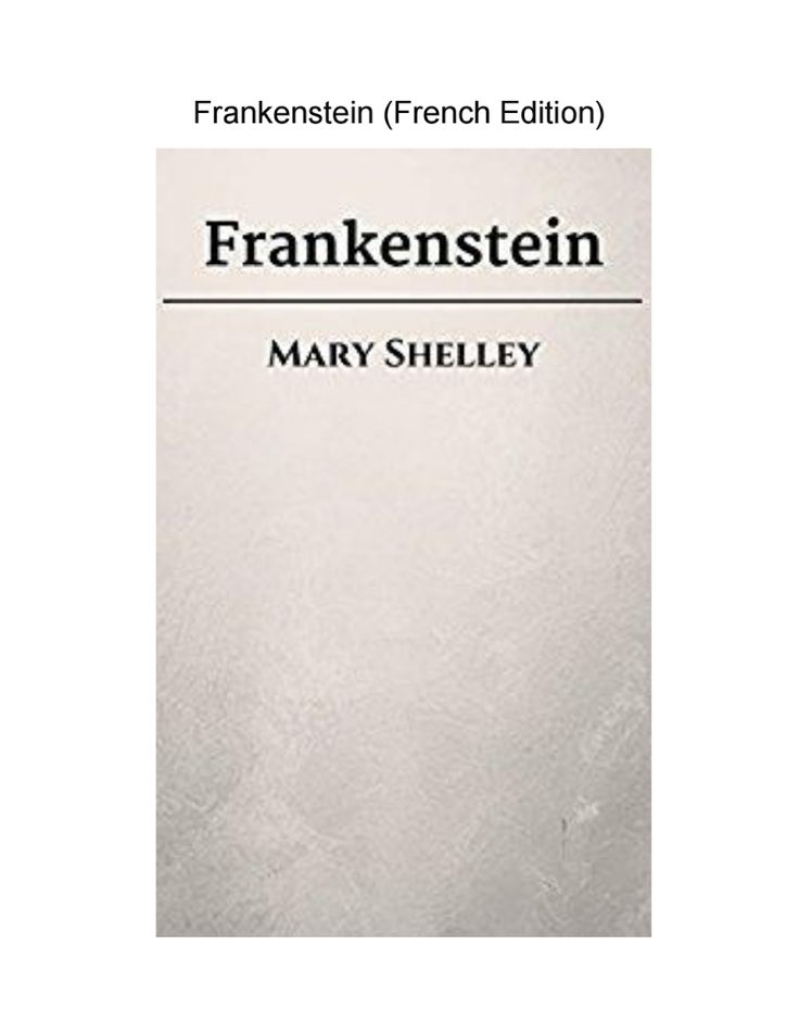 Frankenstein (French Edition)