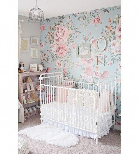 Anewall Cutesie Mural Floral Wallpaper #ideasforbedroomdecorating  – First Child