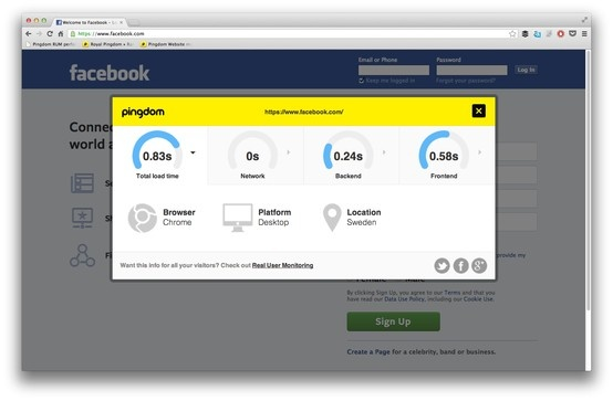 Today we're releasing a simple bookmarklet with which you can display the real user performance of any website, not just the ones you monitor. Think of it as a sample of what the full Real User Monitoring service can do.  http://royal.pingdom.com/2013/05/14/pingdom-real-user-monitoring-bookmarklet/