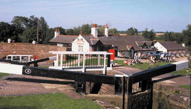 Foxton Locks on the Grand Union Canal Leicester Line  http://canalrivertrust.org.uk/