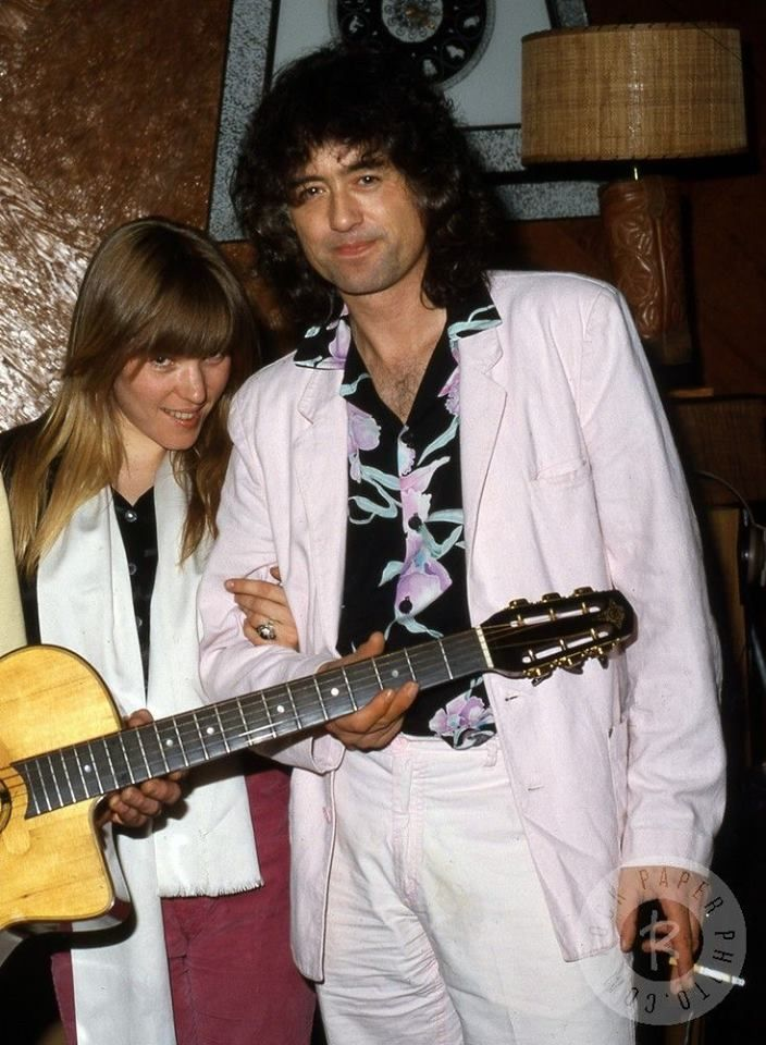 Jimmy Page With Patricia Ecker In 1985 At Live Aid In