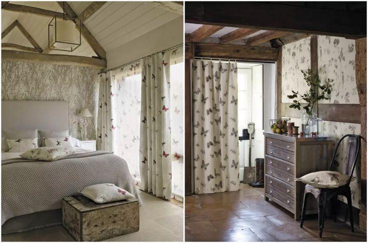 Интерьер спальни и прихожей в стиле кантри