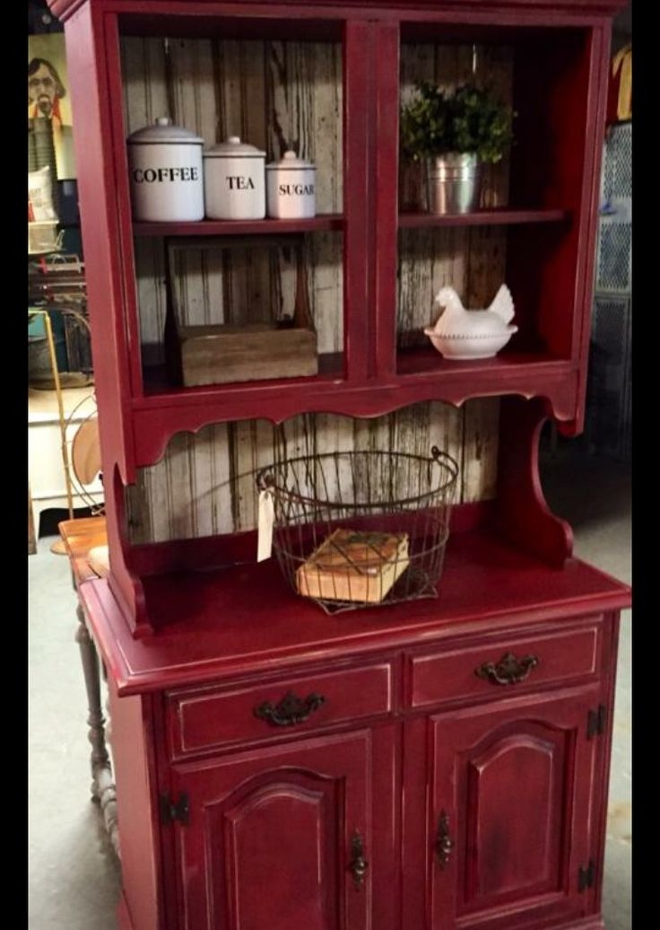 25 Best Ideas About Red Hutch On Pinterest White Hutch