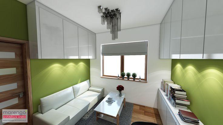 minimalizm w domu w Niepołomicach, gabinet
